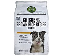 Open Nature Dog Food Chicken & Brown Rice Recipe - 15 Lb