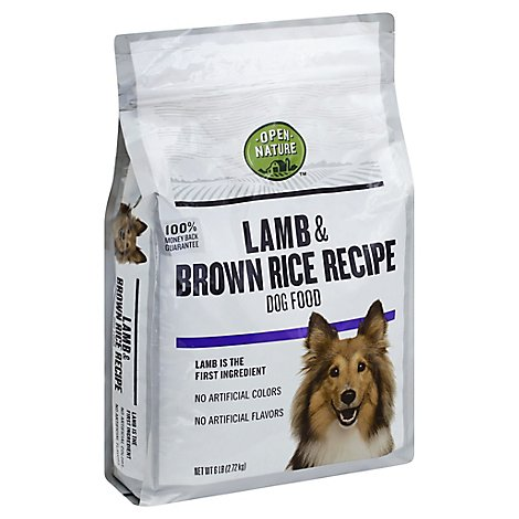 Open Nature Dog Food Lamb & Brown Rice Recipe Bag - 6 Lb