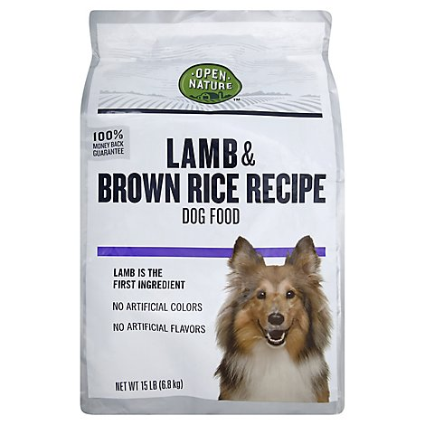 Open Nature Dog Food Lamb & Brown Rice Recipe Bag - 15 Lb