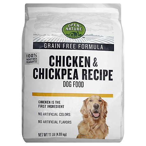 Open Nature Dog Food Grain Free Chicken & Chickpea Recipe Bag - 11 Lb