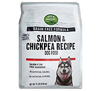 Open Nature Dog Food Grain Free Salmon & Chickpea Recipe Bag - 11 Lb