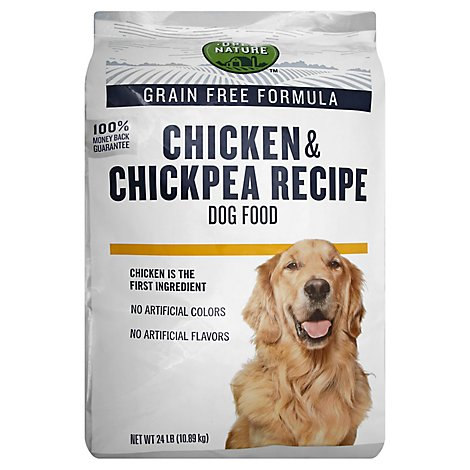 Open Nature Dog Food Grain Free Chicken & Chickpea Recipe Bag - 24 Lb
