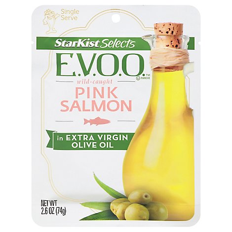 StarKist Selects Evoo Salmon Pink in Extra Virgin Olive Oil - 2.6 Oz