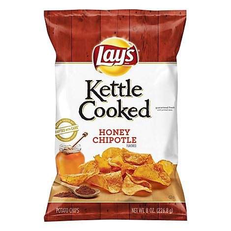 Lays Potato Chips Kettle Cooked Honey Chipotle - 8 Oz