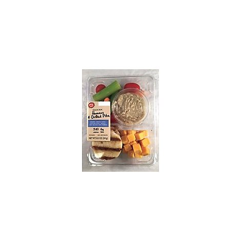 Taylor Farms Hummus & Grilled Pita Snack Tray - 8.5 Oz