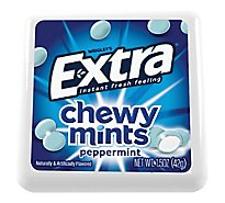 Extra Chewy Mints Peppermint Single Pack 1.5 Oz
