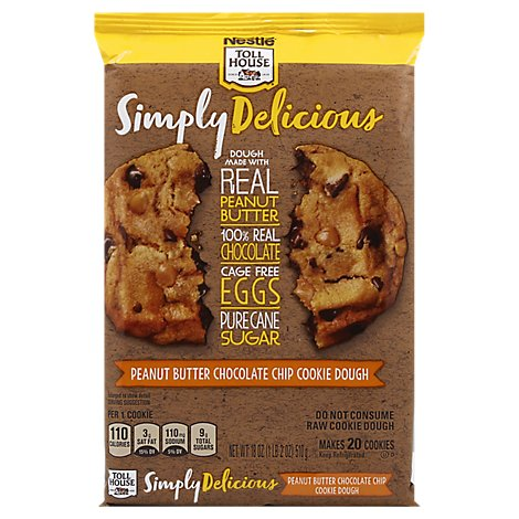 Toll House Simply Delicious Cookie Dough Peanut Butter Chocolate Chip - 18 Oz