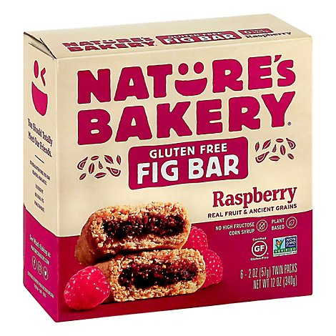 Natures Bakery Bar Fig Gf Raspberry 6ct - 12 Oz