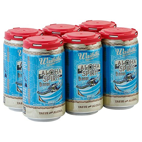 Waikiki Brewing Aloha Spirit Blonde In Cans - 6-12 Fl. Oz.