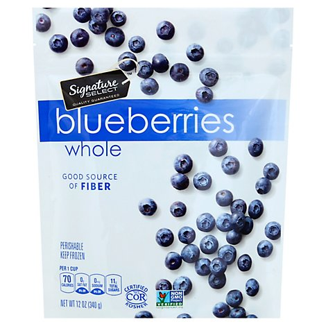 Signature SELECT Blueberries Whole Unsweetened - 12 Oz