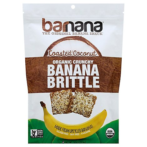 Barnana Brittle Banana Toasted Coconut Organic - 3.5 Oz