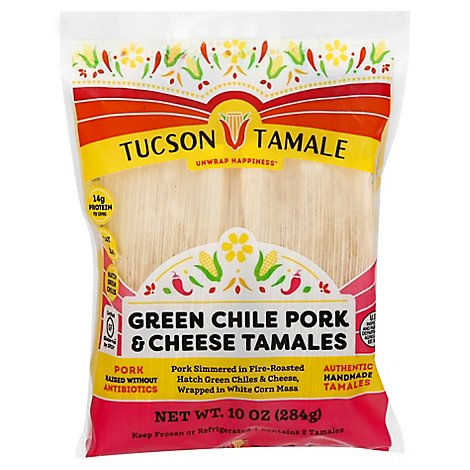 Tucson Tamale Company Tamale Grn Chle Prk Chese - 10 Oz