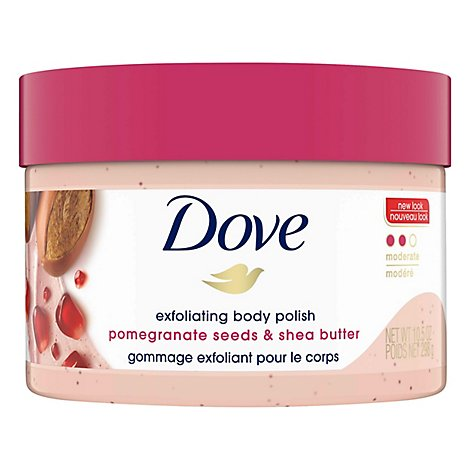 Dove Body Polish Exfoliating Pomegranate Seeds & Shea Butter - 10.5 Oz
