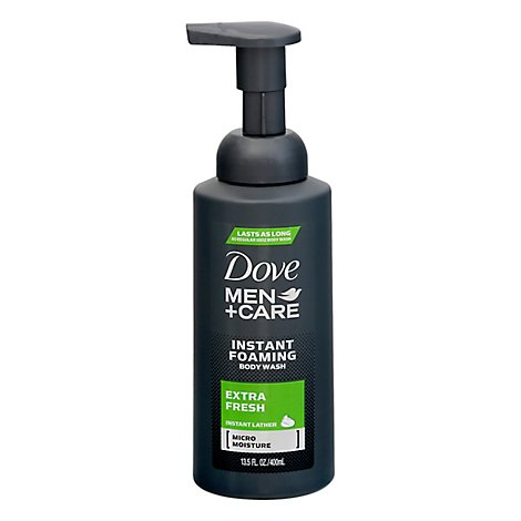 Dove Men+Care Body Wash Instant Foaming Extra Fresh - 13.5 Fl. Oz.