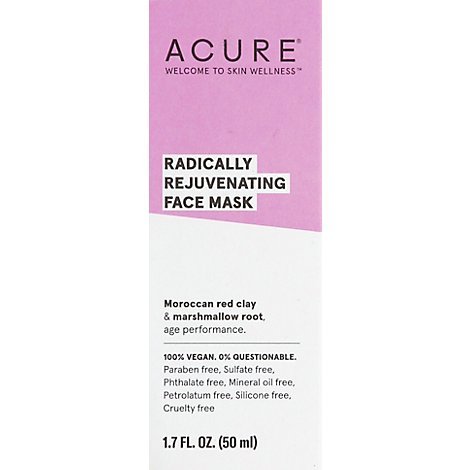 Acure Mask Red Clay Pore Clarifying - 1.7 Fl. Oz.