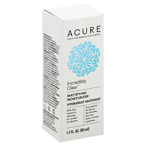 Acure Facial Moisturizer Oil Matifying - 1.7 Fl. Oz.