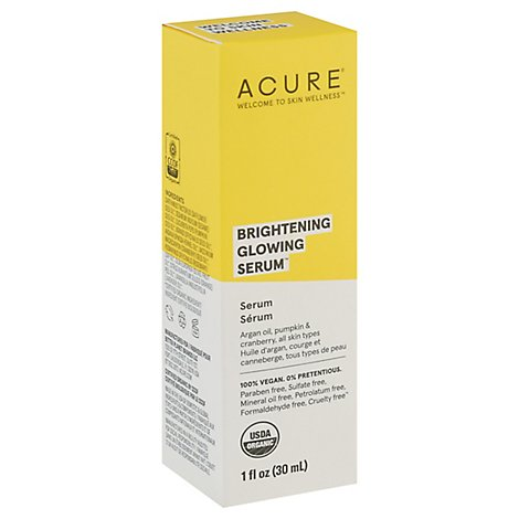 Acure Facial Serum Seriously Glowing - 1 Fl. Oz.