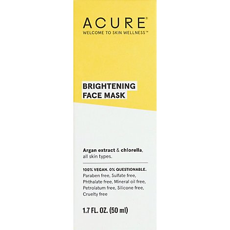Acure Brighteningface Mask - 1.7 Fl. Oz.