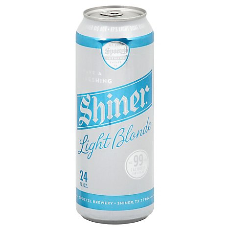 Shiner Light Blonde In Cans - 24 Fl. Oz.