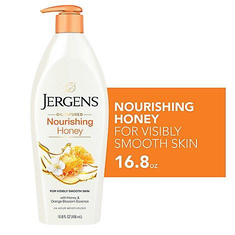 Jergens Nourish Honey Moistr - 16.8 Fl. Oz.