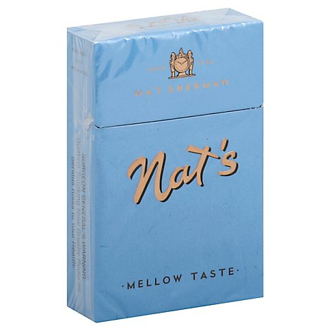 Nat Sherman Cigarettes Naturals Mellow Blue FSC - Pack