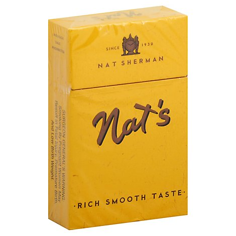 Nat Sherman Cigarettes Naturals Smooth Yellow FSC - Pack