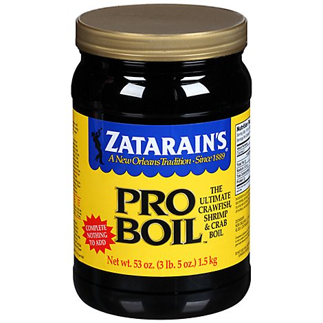 Zatarains Crawfish Shrimp & Crab Boil Pro Boil - 53 Oz