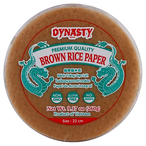 Dynasty Brown Rice Paper - 9.17 Oz