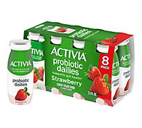 Activia Yogurt Drink Lowfat Strawberry Flavor - 8-3.1 Oz