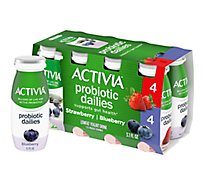 Activia Probiotic Dailies Yogurt Drink Lowfat Strawberry & Blueberry Variety Pack - 8-3.1 Fl. Oz.