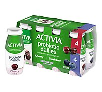 Activia Yogurt Drink Lowfat Cherry & Blueberry Flavor - 8-3.1 Oz