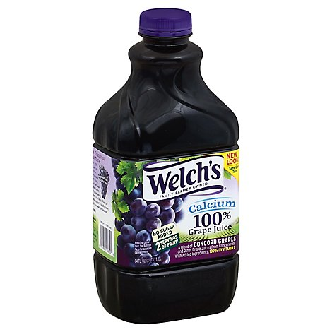 Welch 100% Grape Juice with Calcium - 64 Fl. Oz