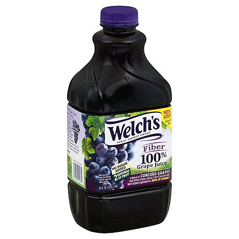 Welchs 100% Grape Juice with Fiber - 64 Fl. Oz.