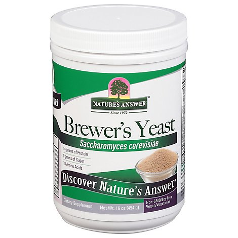 Natures Answer Brewers Yeast - 16 Oz