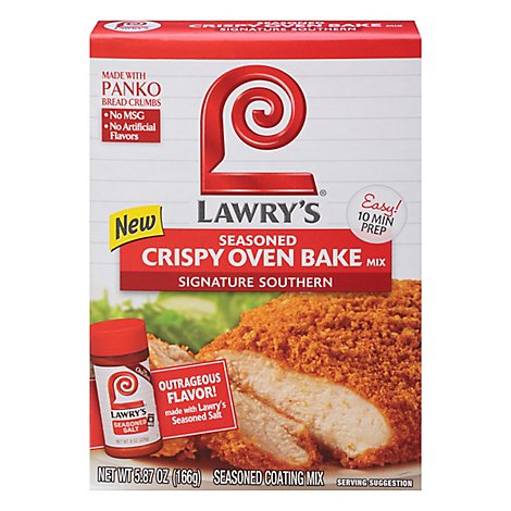 Lawrys Crispy Oven Bake Mix Seasoned Signature Southern - 5.87 Oz
