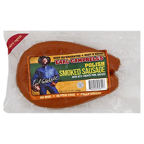 Earl Campbell Polish Sausage Loop - 13 Oz