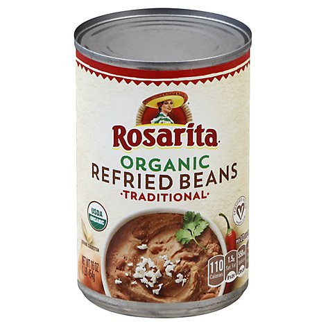 Rosarita Beans Refried Organic Traditional Can - 16 Oz