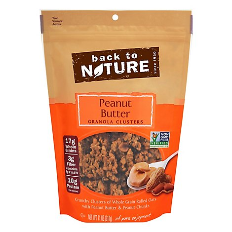 Back To Nature Granola Clusters Peanut Butter - 11 Oz