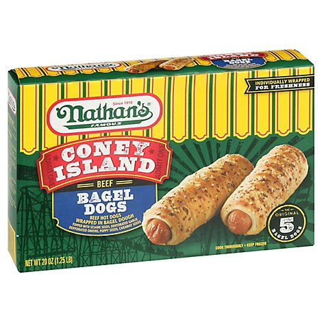 Nathans Beef Bagel Everything Dog - 20 Oz