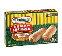 Nathans Pretzel Beef Corn Dog - 20 Oz