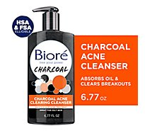 Biore Acne Cleansr Chrcl - 6.77 Fl. Oz.