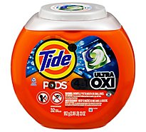 Tide Plus PODS Detergent Pacs 4In1 Ultra Oxi - 32 Count