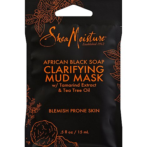 SheaMoisture Mud Mask Clarifying African Black Soap - 0.5 Oz