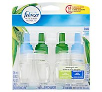 Febreze Plug Air Freshener Scented Oil Refill Gain Meadows & Rain - 2-0.87 Fl. Oz.