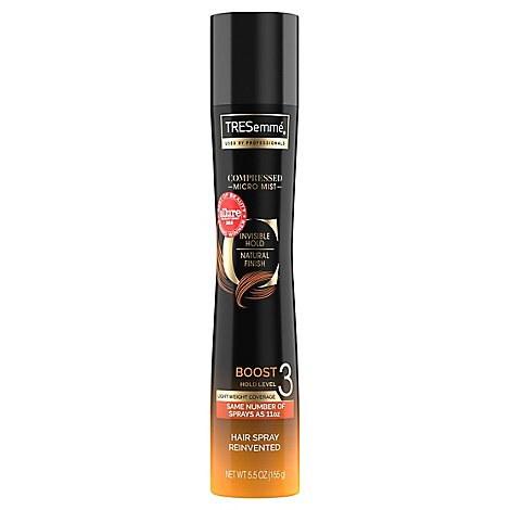 TRESemme Hairspray Compressed Micro Mist Boost 3 Aerosol - 5.5 Oz
