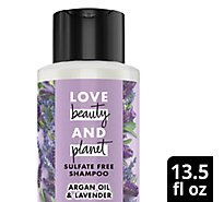 Love Beauty and Planet Shampoo Sulfate Free Argan Oil & Lavender - 13.5 Fl. Oz.