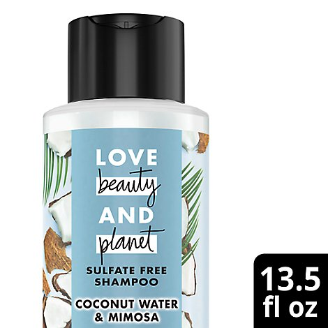 Love Beauty and Planet Shampoo Sulfate Free Coconut Water & Mimosa Flower - 13.5 Fl. Oz.