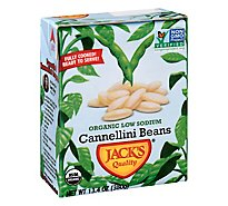 Jacks Quality Beans Organic Low Sodium Cannellini - 13.4 Oz