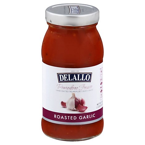 DeLallo Tomato Sauce Pomodoro Fresco Roasted Garlic Jar - 25.25 Oz