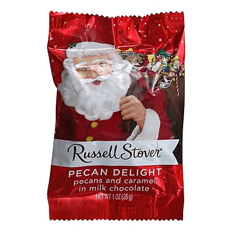 Russell Stover Pecan Delight Santa - 1 Oz
